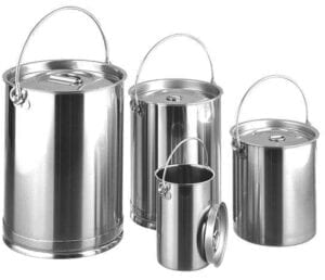 Hygienic Stainless Steel Cans with Lids
