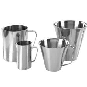 Hygienic Stainless Steel Measuring Jugs for Laboratories and Catering