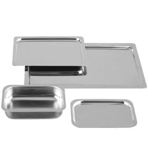 Hygienic Stainless Steel Trays for Hospitals, Laboratories and Catering